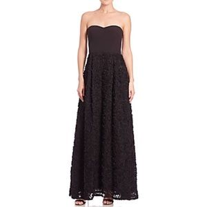 Max & Cleo strapless rose gown